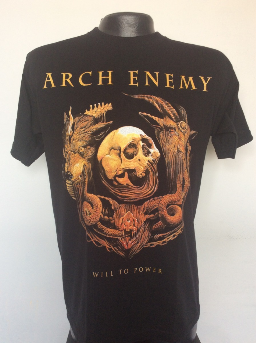 Camiseta Arch Enemy Will To Power Rock Metal Anime Salsa -   24.990 ... 06d2641df8791