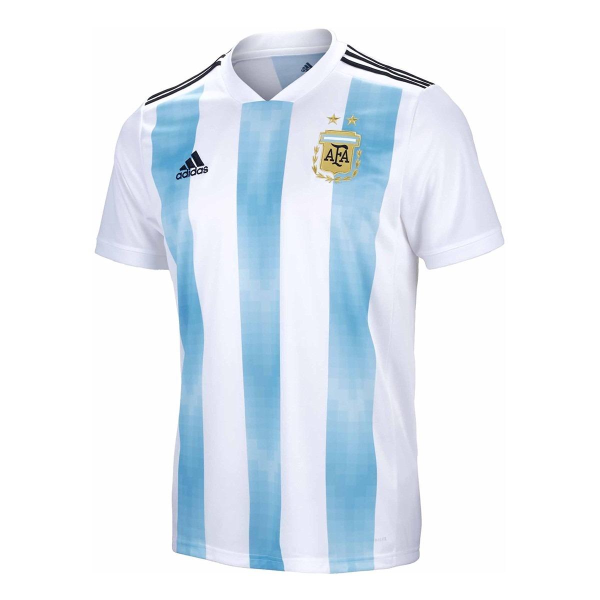 Características. Marca Adidas  Equipo Argentina  Tipo de camiseta Titular   Tipo de ocasión Partido  Temporada 2018 ... ab28079f98a16