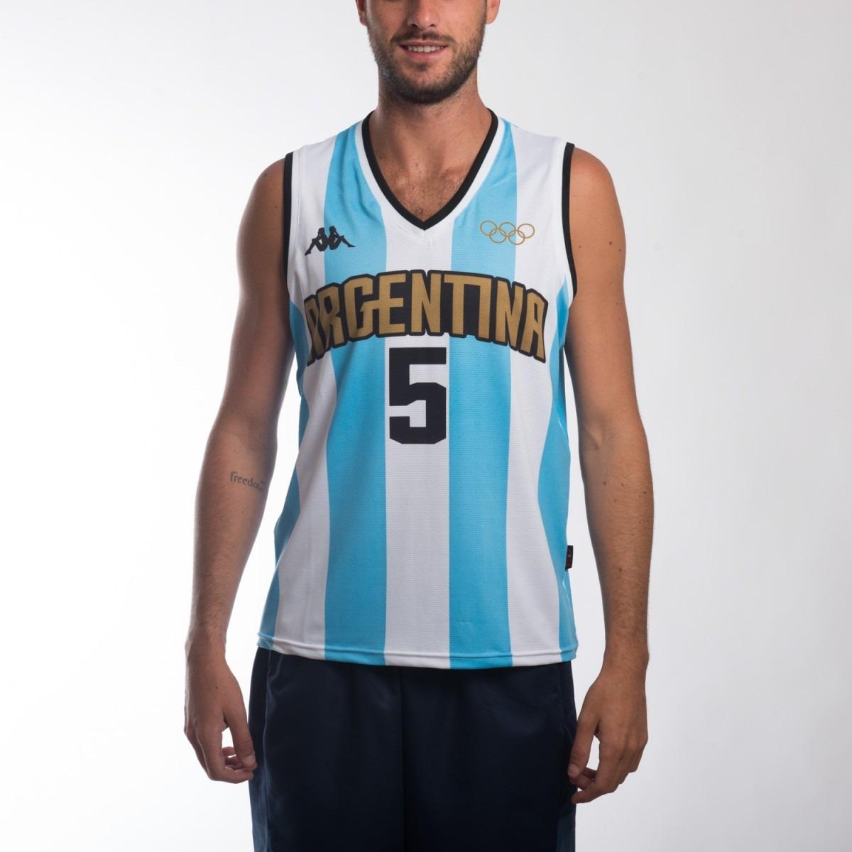 0438171a657c4 camiseta argentina basquet kappa rio 2016 manu ginobili. Cargando zoom.