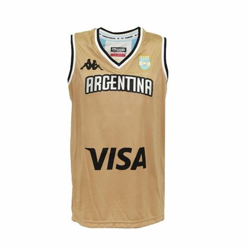 Camiseta Argentina Basquet Suplente Kappa Rio 2016 -   1.099 51a2648cdb3ae