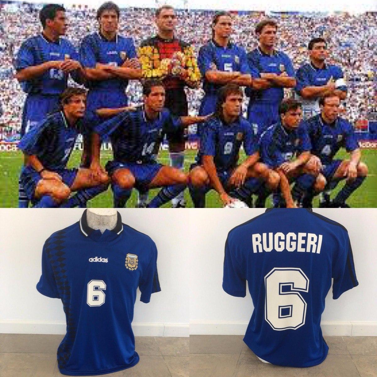 ac563fd4f9 camiseta argentina mundial usa 94 azul ruggeri. Cargando zoom.