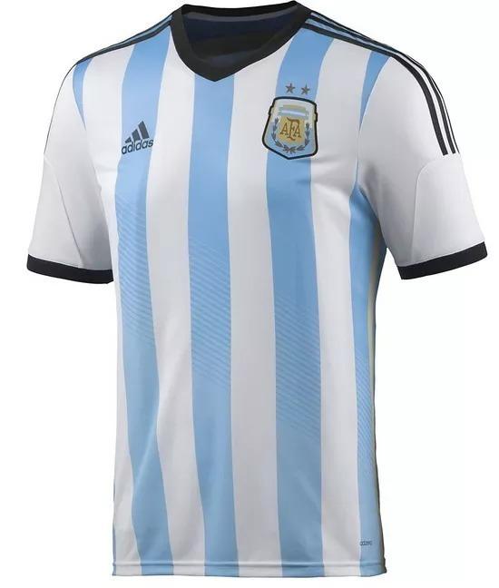 Camiseta Argentina Oficial Mundial 2014 Version Adizero -   1.399 ac4e7c04d5ad8