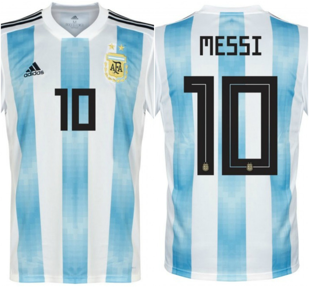 Camiseta Argentina Oficial Rusia 2018 adidas Climalite Messi ... 42a1d7f958a3b