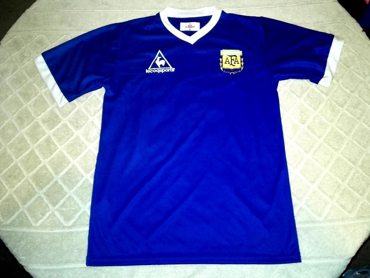 Camiseta Argentina Retro 1986 Suplente Maradona  10 -   464 03681b18be640
