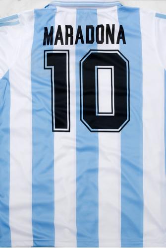 camiseta argentina retro 1994 maradona riquelme 94 azul
