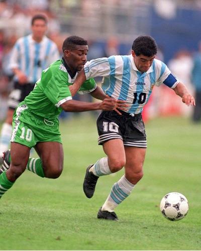 camiseta argentina retro 1994 maradona titular y suplente 94