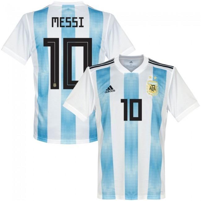 530749544663c Camiseta Argentina Titular 2018 Mundial Rusia Numero Gratis ...
