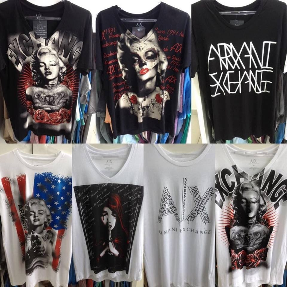 713d75997ea camiseta armani exchange 100% original tecido slim fit. Carregando zoom.