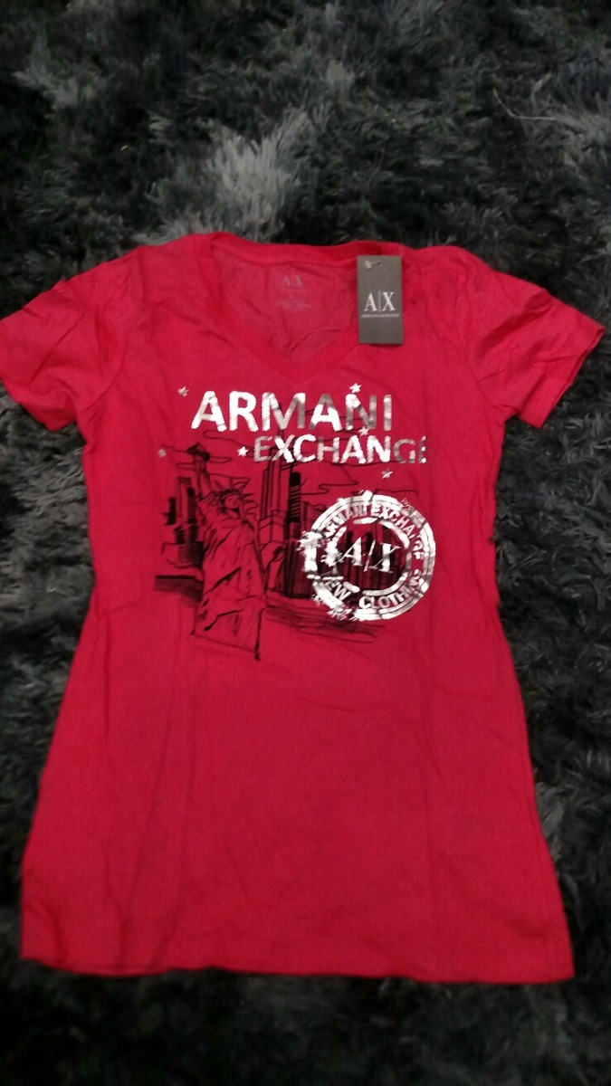 camiseta armani exchange g masculina gola v vermelha lote 14. Carregando  zoom. 44eceabccd7