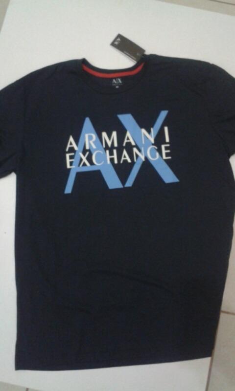 f06a4570e07 camiseta armani exchange xxg preta - original. Carregando zoom.