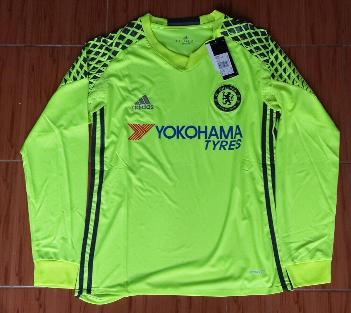 6b9f2e671e Camiseta Arquero Manga Larga Chelsea 2016 2017 Courtois -   849