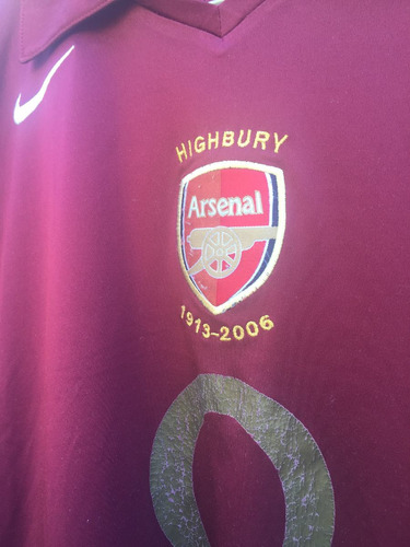 camiseta arsenal highbury
