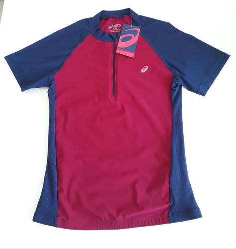 camiseta asics de ciclismo e triathlon ss tee feminina rosa