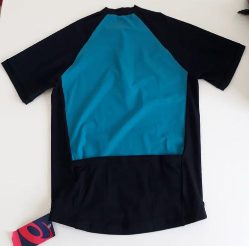 camiseta asics de ciclismo e triathlon ss tee masculino verd