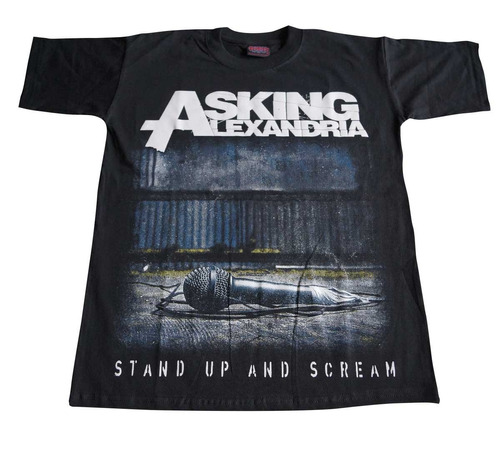 camiseta asking alexandria rock activity importada talla s