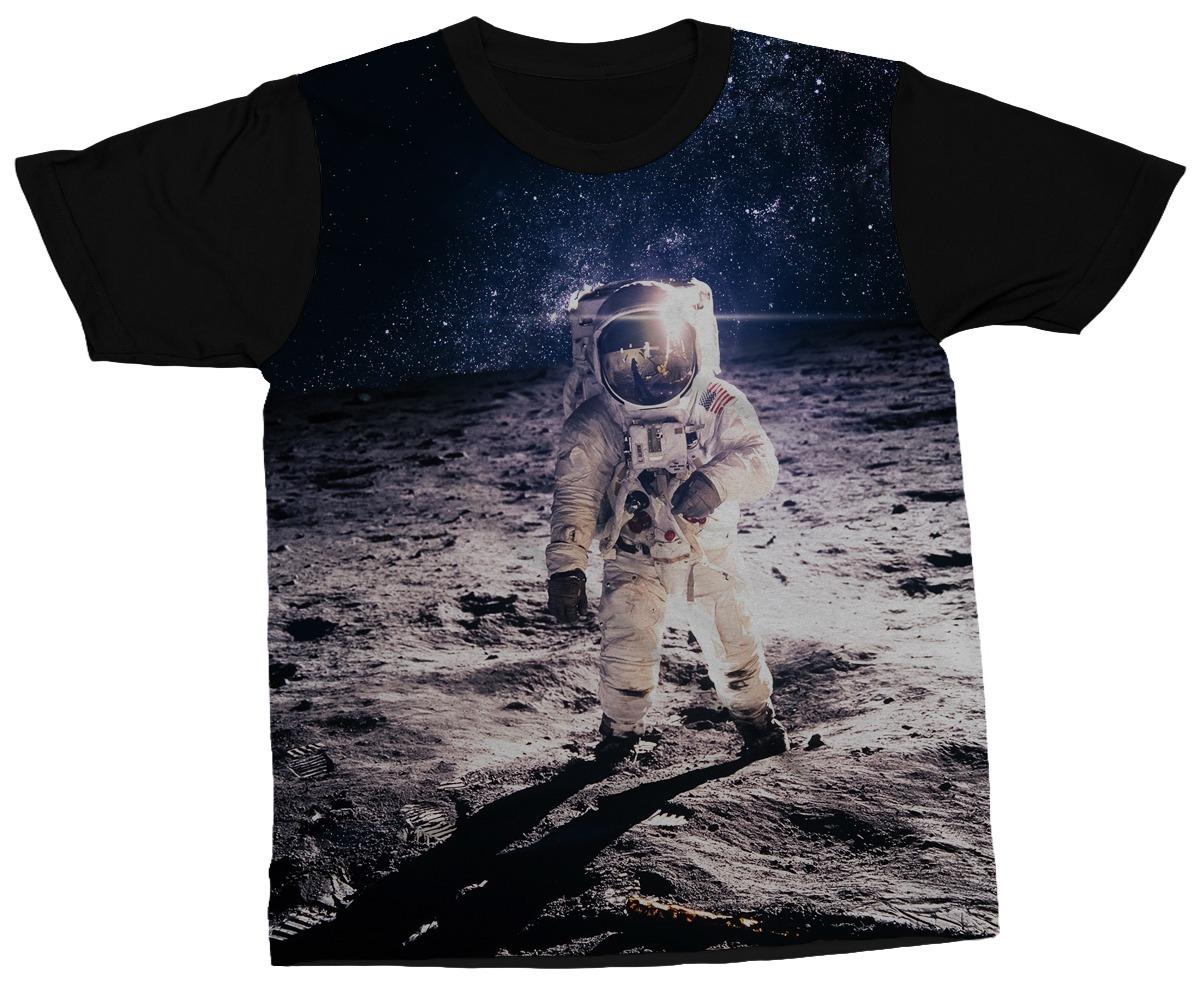 007d5a4bc camiseta astronauta espaço galáxia planeta camisa blusa. Carregando zoom.