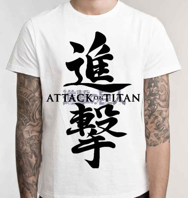 Camiseta Ataque Shingeki No Kyojin Attack Titans Anime C02