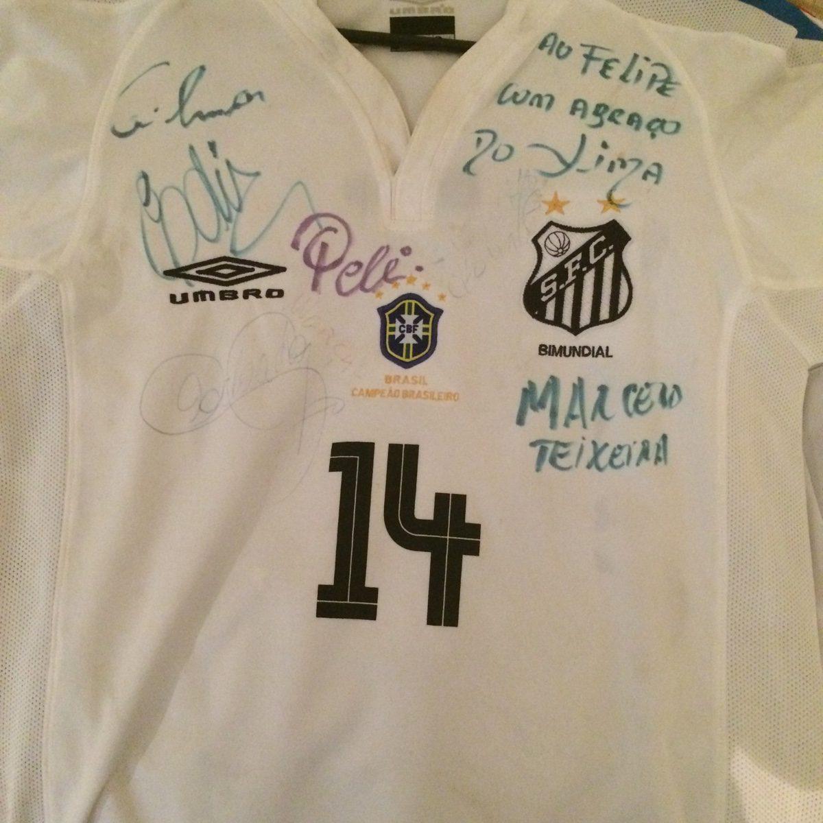 457f3a114d Camiseta Autografada Do Santos - Pelé