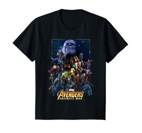 Infinity Avengers War Marvel Negro N Camiseta Team MVSqpUz