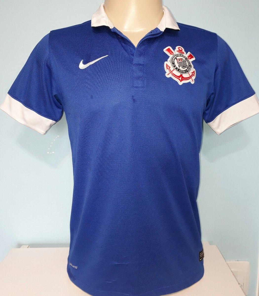 camiseta azul corinthians nike original 2013   2014 - 58. Carregando zoom. 81bb6d5b6a1f3