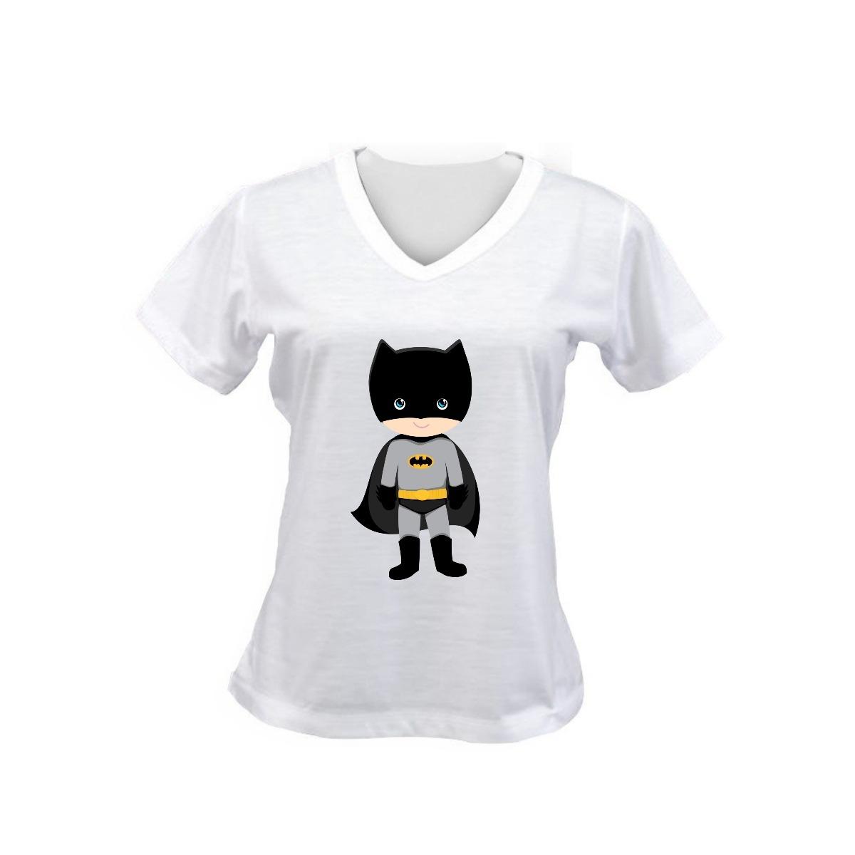 Camiseta Baby Look Feminina Batman Baby Desenho Infantil R 19