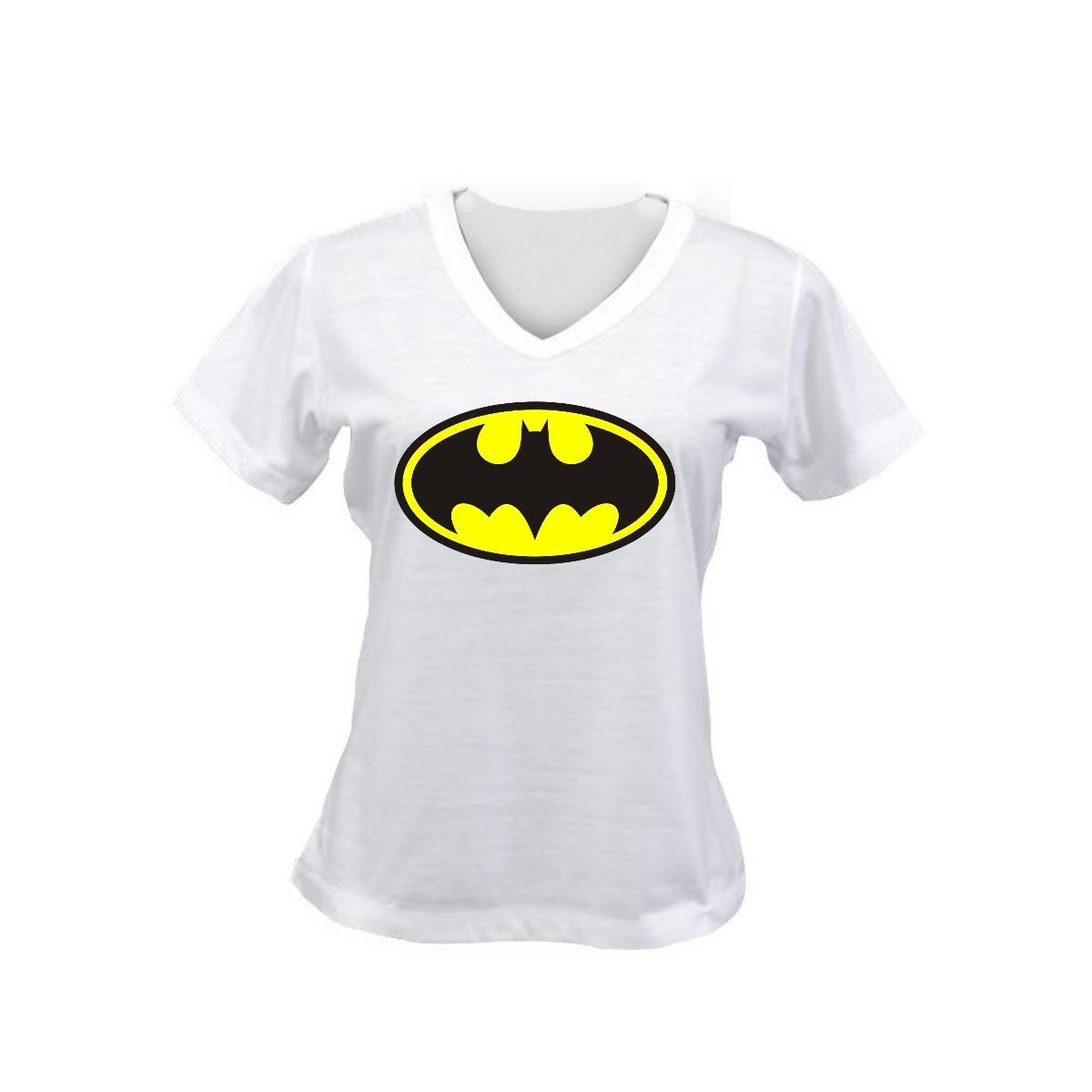 Camiseta Baby Look Feminina Escudo Batman Desenho Simbolo R 19