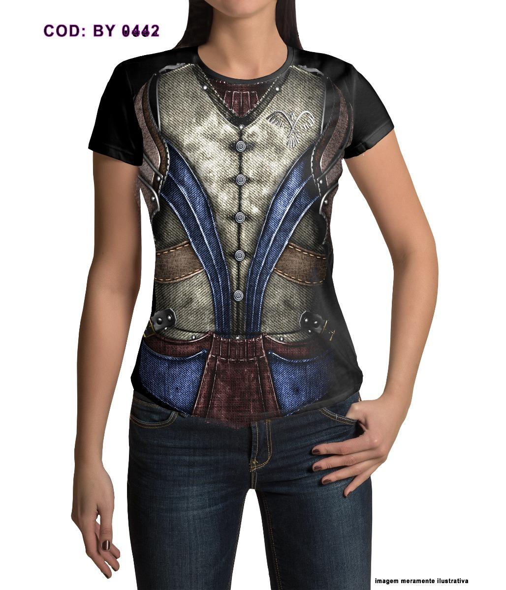 55895180a Camiseta Baby Look Feminina Traje Medieval - R  54