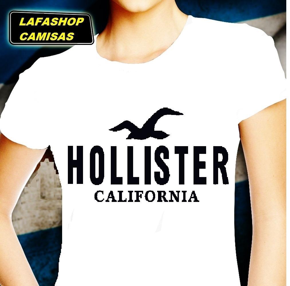 a9107bd267 camiseta baby look hollister feminina camisa mulher moca. Carregando zoom.
