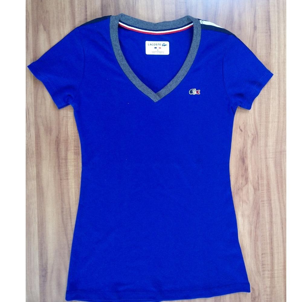 Camiseta Baby Look Lacoste Feminina - 100% Original - R  99,90 em ... 1cee1698d1