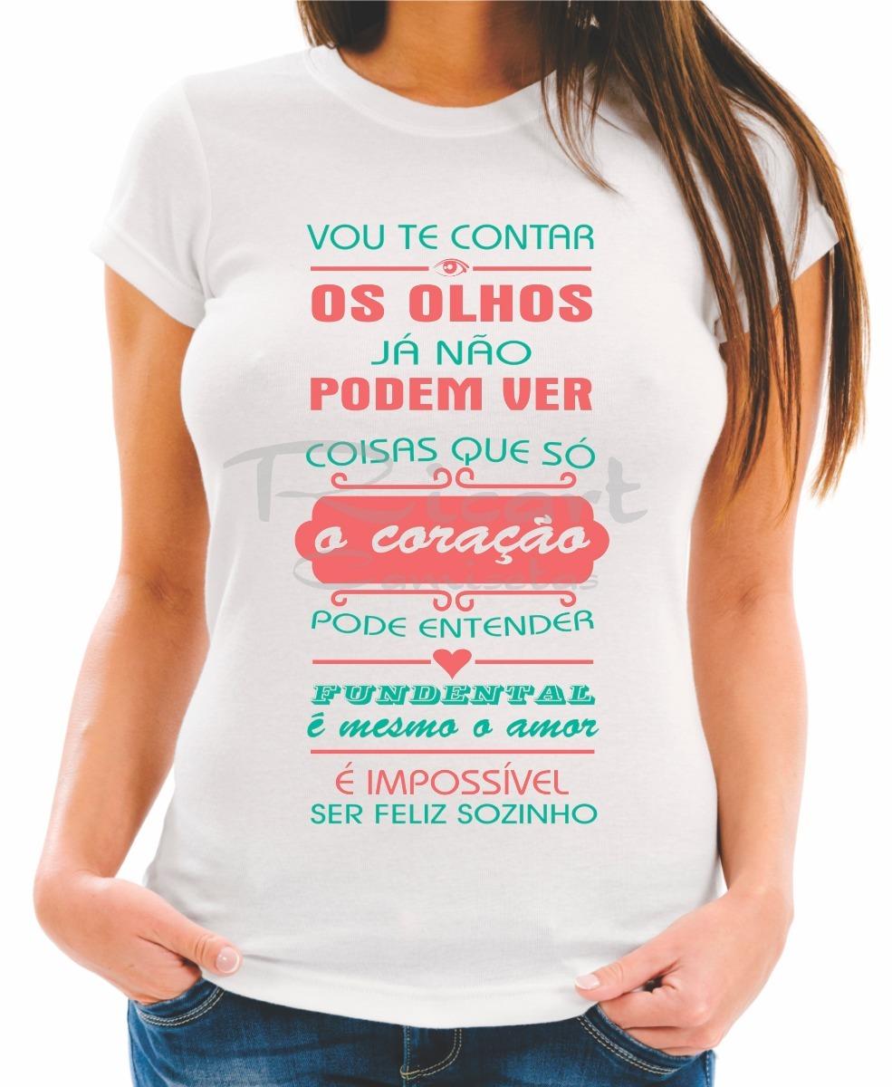 Camiseta Baby Look Letra De Música Trechos Frases Tom Jobim R 30