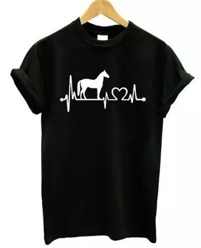 Camiseta Baby Look Love Cavalo Horse Tumblr Blusa Feminina R 45
