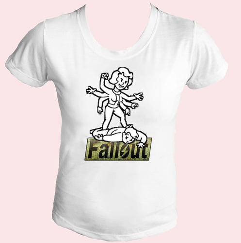 camiseta babylook fallout jogo 08