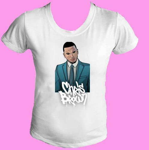 camiseta babylook feminina chris brown hip hop 03