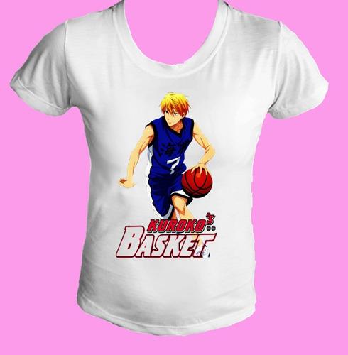 camiseta babylook feminina kuroko's kurokos basket 02