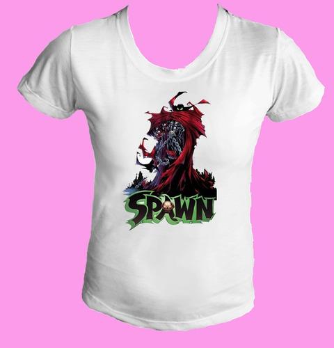 camiseta babylook feminina quadrinho anti heroi spawn 05