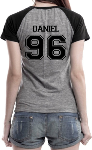 camiseta babylook k-pop wanna one daniel super promoção