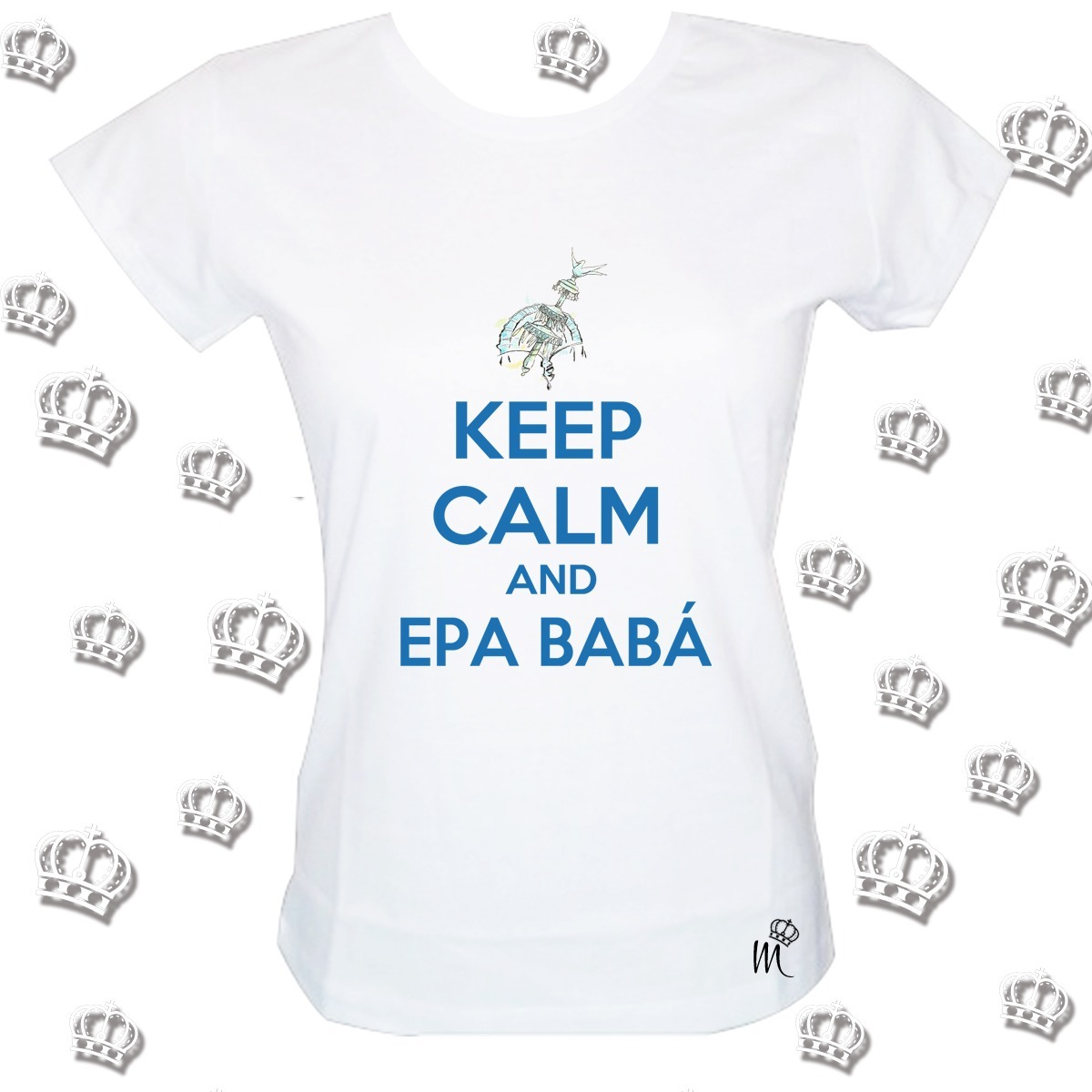 camiseta babylook keep calm and epa babá. Carregando zoom. d87d5263036