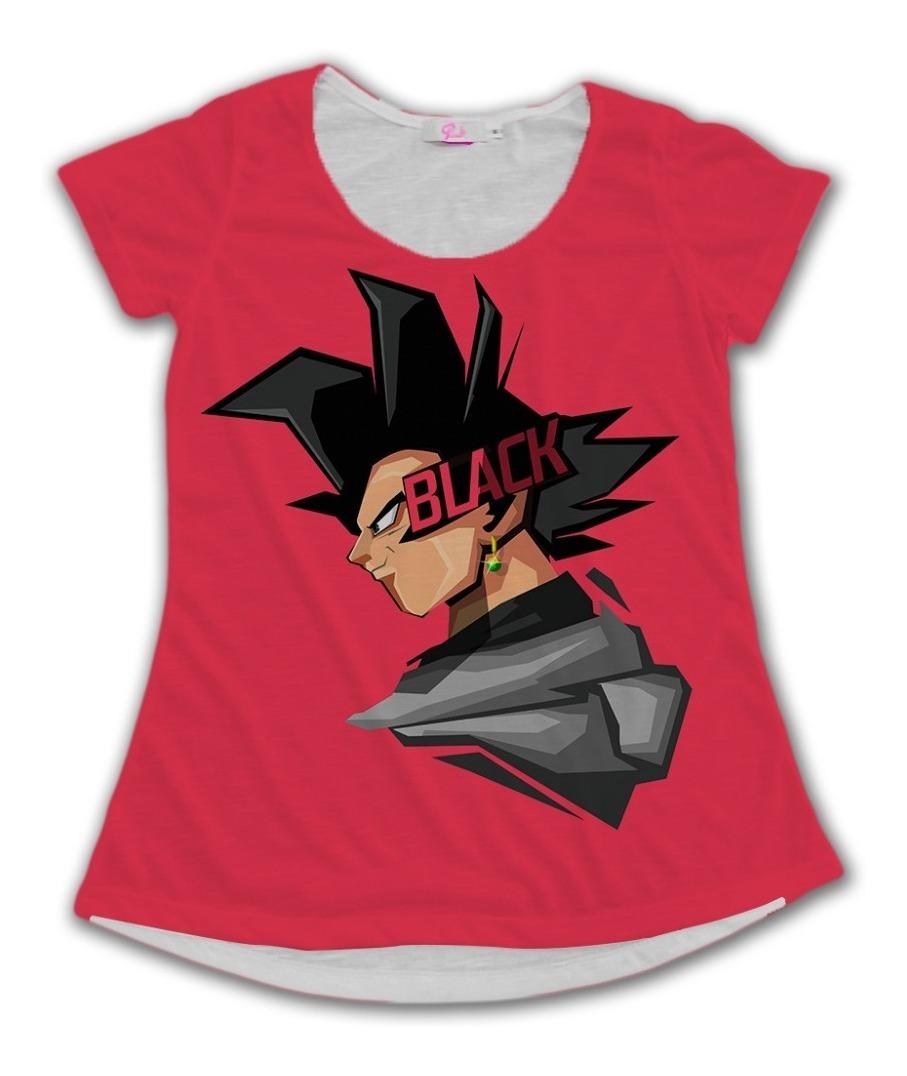 Camiseta Babylook Tumblr Goku Black Rosa Desenho Anime R 89 00