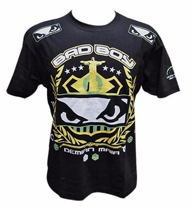 Camiseta Bad Boy Demian Maia Fight Night Preta - R  75 699a4fb8533