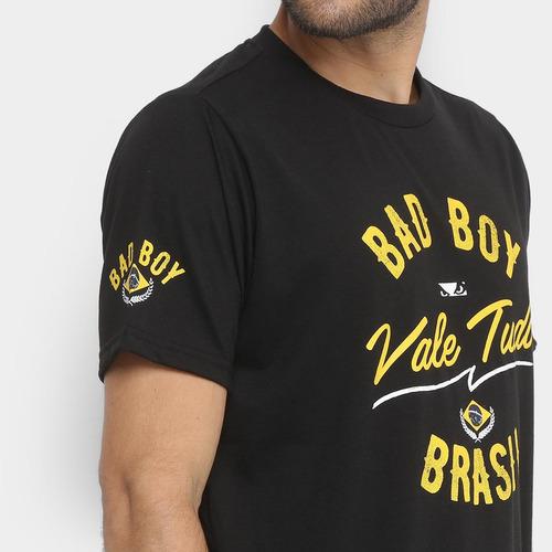Camiseta Bad Boy Vale Tudo Sp Masculina - Cor Preto - R  29 c0e54c86535