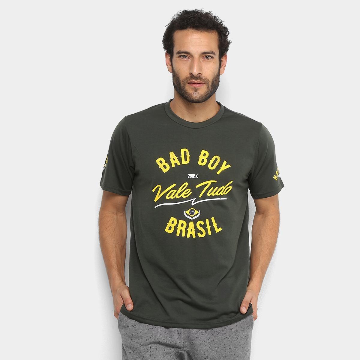 camiseta bad boy vale tudo sp masculina - cor verde. Carregando zoom. 6df3009c7de