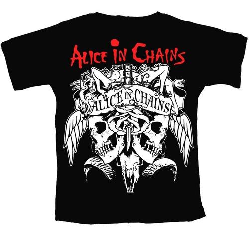 camiseta banda alice in chains - c30 original.