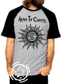 1bf4235839 Alice In Chains Cachorro De - Camisetas Curta com o Melhores Preços no  Mercado Livre Brasil