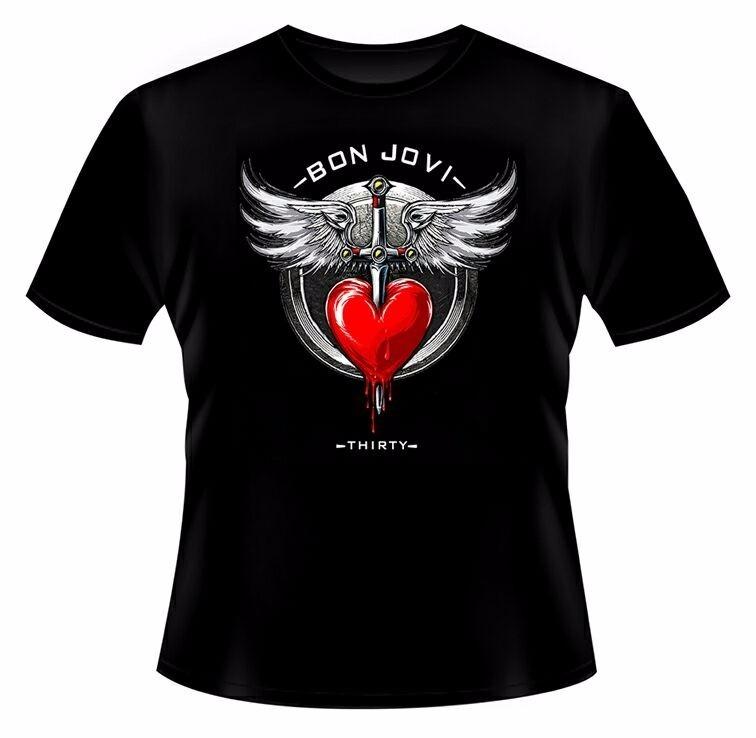 83b7ecef6 Camiseta Banda Bon Jovi Símbolo Coração Thirty - Modelo 99 - R  37 ...