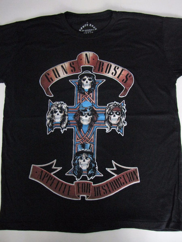 camiseta banda guns n' roses - appetite for destruction