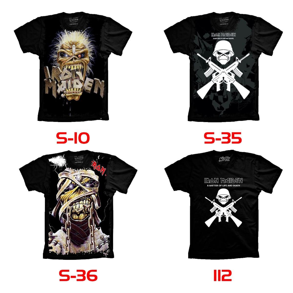c06365fe2e camiseta banda iron maiden heavy metal. Carregando zoom.