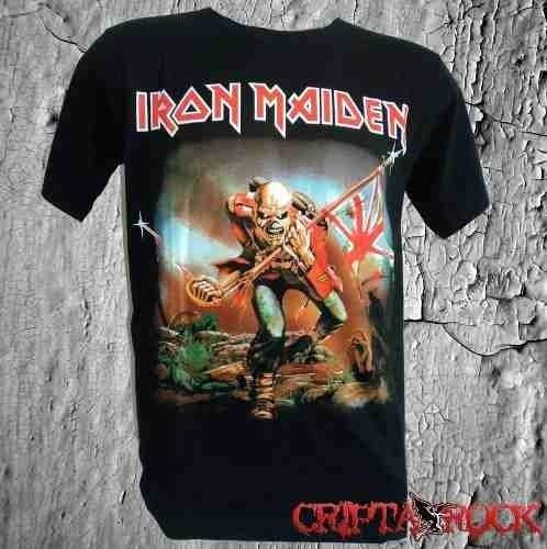 55d79d69e Camiseta Banda Iron Maiden The Trooper (sinc) - R  39