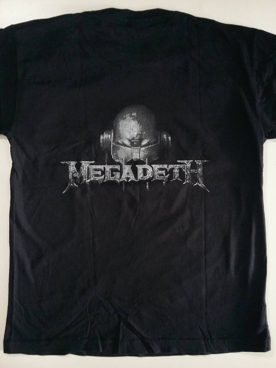 camiseta banda megadeth - vic rattlehead - flash rock. Carregando zoom. 405f6e033b2b0