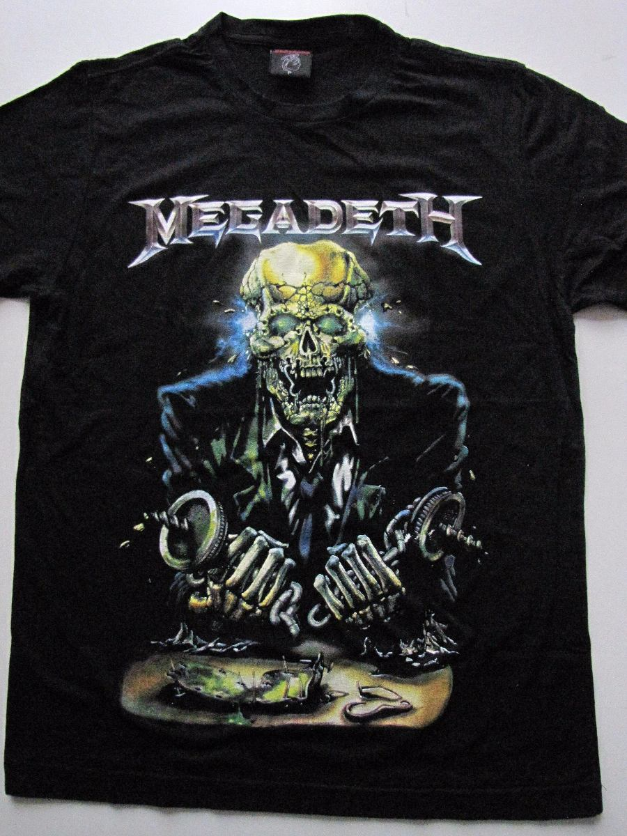 camiseta banda megadeth - vic rattlehead - profanus. Carregando zoom. ea163f86554e3