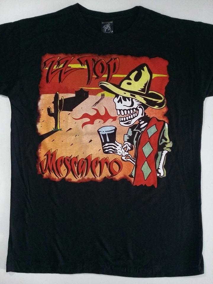 camiseta banda zz top mescalero profanus r 4000 em